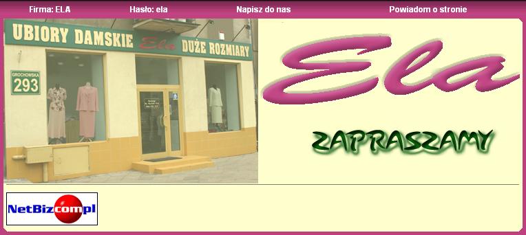 693f1614 Sklep Ela - Duże Rozmiary - partner NetBiz.com.pl